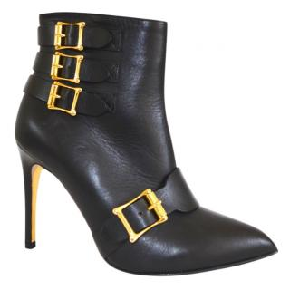 Rupert Sanderson Black Calf Leather High Heel Ankle Boots