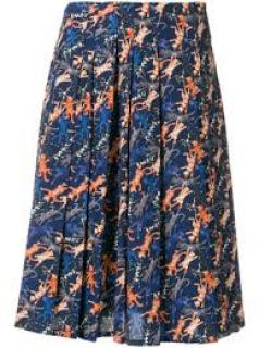Peter Jensen jumping cat A-line pleated skirt