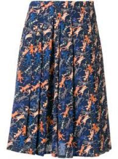 Peter Jensen jumping cat A-line pleated skirt