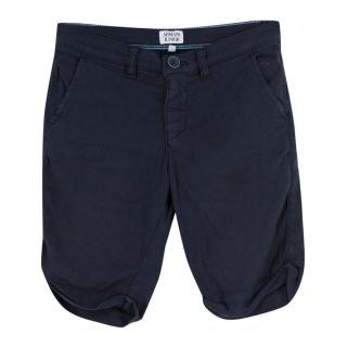 Armani Junior Boys Navy Shorts