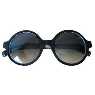 Sportmax Black Round Glasses