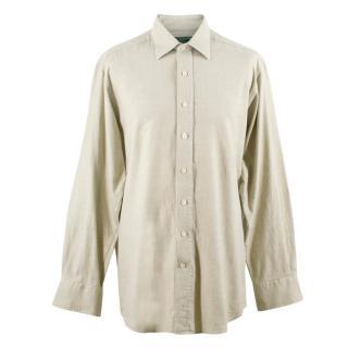 Holland & Holland Men�s Cashmere-blend Long Sleeved Shirt