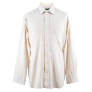 Holland & Holland Men's Cashmere-blend Long Sleeved Shirt