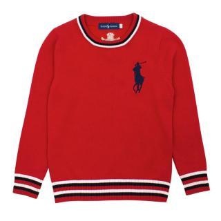 Ralph Lauren Boy's Cotton Crewneck Sweater
