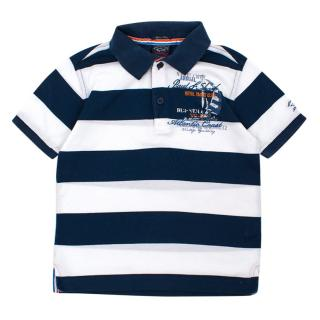 Paul & Shark Boy's Striped Polo Shirt
