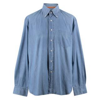 Orian Men's Blue Long Sleeve Shirt