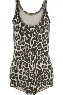 Bottega Veneta Leopard Print Cotton-Blend Bodysuit