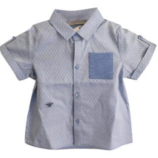 Christian Dior Baby Dior Blue cotton jacquard shirt