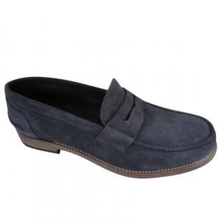 Giorgio Armani Men's Blue Penny Loafers