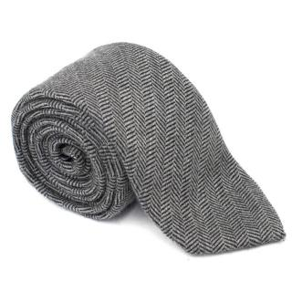 Hackett of London Grey Wool Tie