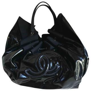 Chanel Coco Cabas patent black bag