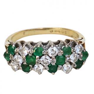 Bespoke 18ct Gold Diamond & Emerald Ring