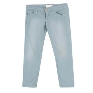 Gucci Girl's Light Blue Chinos