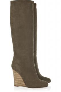 Valentino Suede Knee High Boots