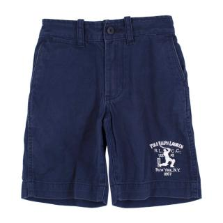 Polo by Ralph Lauren Boys Navy Cotton Shorts