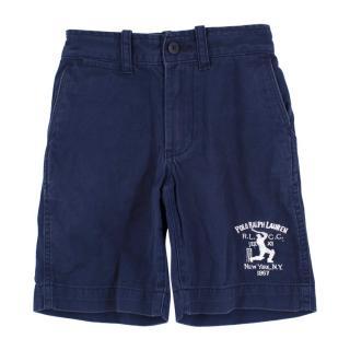 Polo by Ralph Lauren Boys Navy Cotton Shorts
