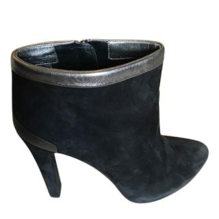 Fendi Black Suede Ankle Boots