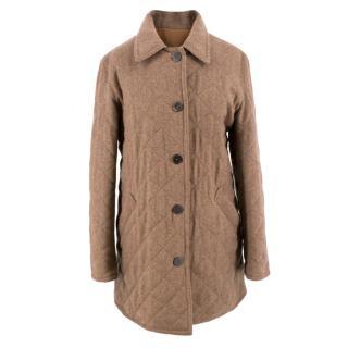 Holland & Holland Men's Brown Tweed Reversible Coat
