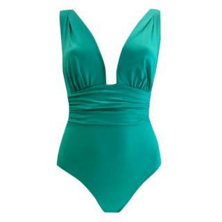 Nicole Olivier Emerald Green Couture One-Piece Swimsuit