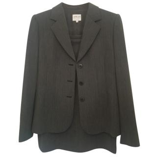 Armani Grey Wool Skirt Suit