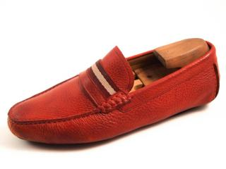 Bally Men's Red Loafers