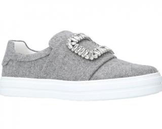 Roger Vivier Sneaky Viv Felt Sneakers