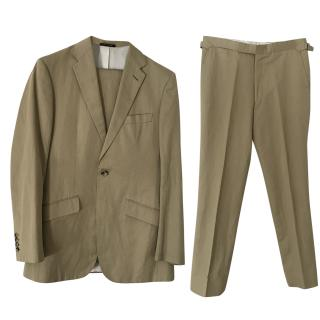 Richard James bespoke khaki cotton suit