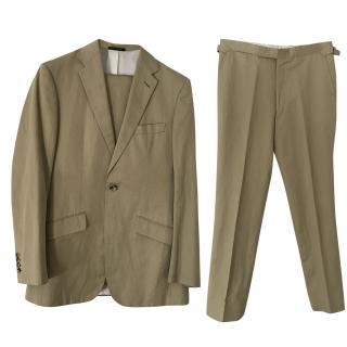 Richard James bespoke khaki cotton suit