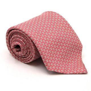 Lester Pink Abstract Pattern Tie