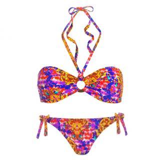 Couture Bali Print Bandeau Bikini