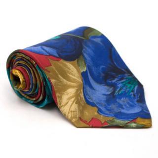 Kenzo Vintage Floral Print Silk Tie