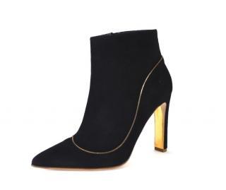 Rupert Sanderson Armada Black Suede Ankle Boots