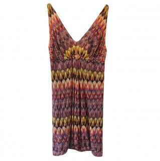 Missoni V-Neck Knit Mini Dress