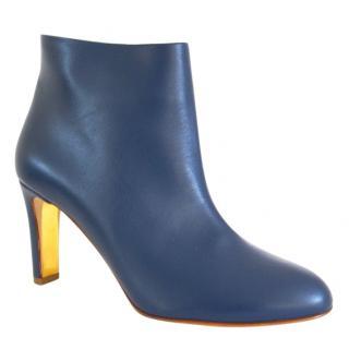 Rupert Sanderson Griselda Bluebonnet Calf Leather Heel Booties