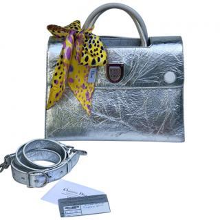 Christian Dior Diorever Metallic Top Handle Bag