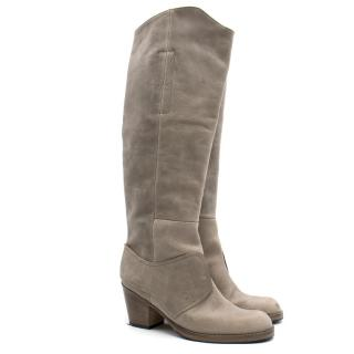 Acne Knee High Sand Leather Boots
