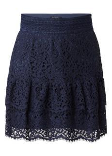 Tara Jarmon navy lace skirt