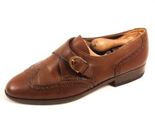 Salvatore Ferregamo men's single monk brogues