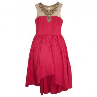 Marchesa Notte Embellished Pink Dress