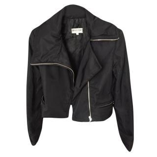Giorgio Armani black biker jacket