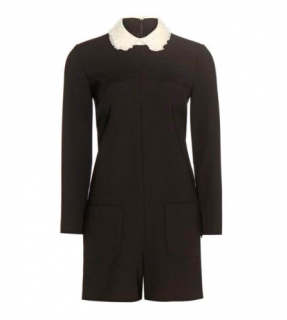 Red Valentino lace collar playsuit