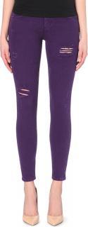 Sandro Purple Distressed Skinny Jeans
