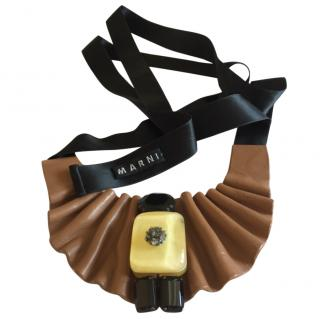 Marni Ruched Leather Necklace