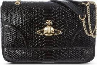 Vivenne Westwood frilly snake-embossed Shoulder Bag