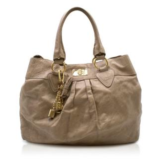 Just Cavalli Brown Leather Shoulder Bag