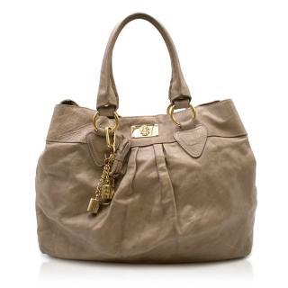 Just Cavalli Brown Leather Shoulder Bag