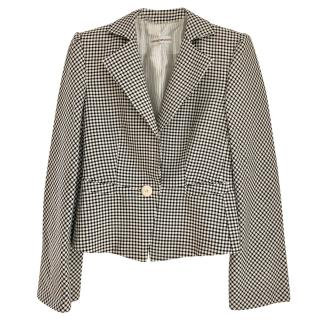 Armani Black and Cream Check Blazer