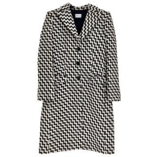 Armani Collezioni Black and White Patterned Coat