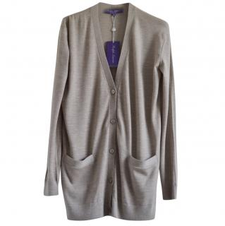 Ralph Lauren Collection beige cashmere cardigan