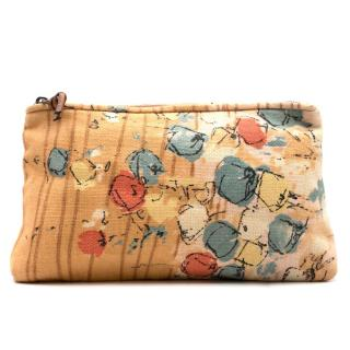 Marni Woven Abstract Printed Zip Clutch